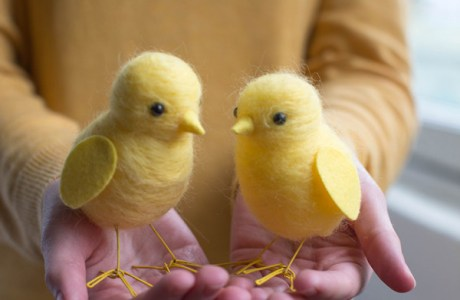 Needle Felted Chicks Tutorial
