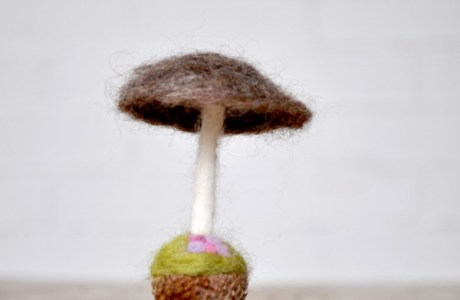 How To Make A Felted Mushroom
