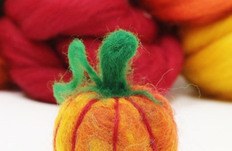 Needle Felted Pumpkin Video Tutorial