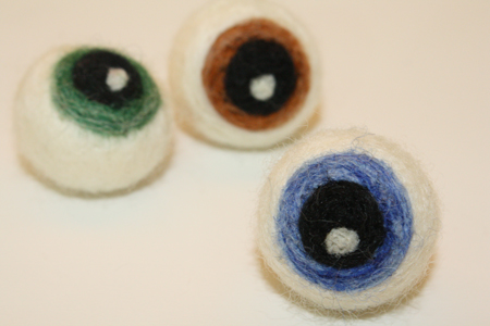 DIY Felted Eyeballs