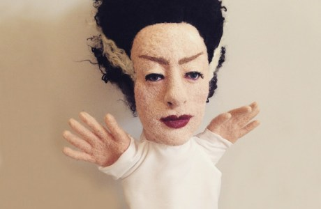 Needle Felted Halloween Puppet: The Bride of Frankenstein Tutorial