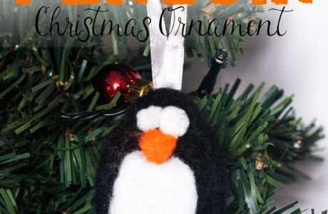 Needle Felted Penguin Ornament