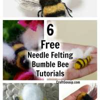 6 Free Needle Felted Bumble Bee Tutorials