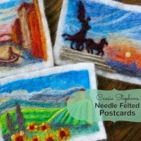How To Make Felted Postcards