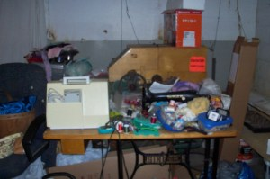 sewing area before