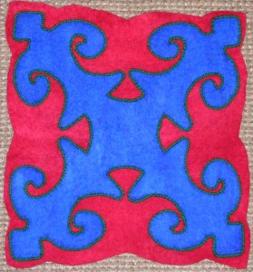 Felt Applique with Couched Cording