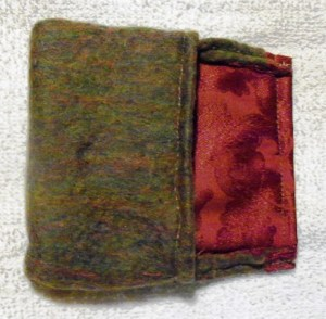 square pouch green front