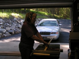 Ruth on the Table Saw