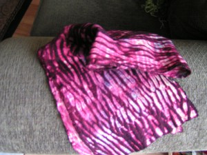 Shibori Scarf - closer view