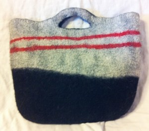 gray felt bag