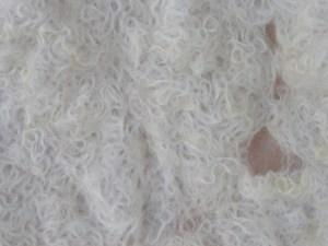 close up Wensleydale cobweb felt