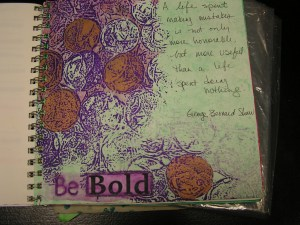 Be Bold Sketchbook Page