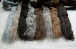 different wool tops