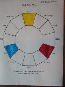 Primary Colors on Color Wheel