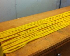 wool in strips