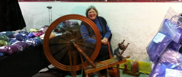 Anne spinning