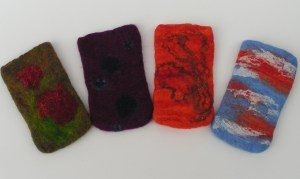 Felted Phone Sleeves