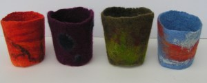Felted Drink Sleeves