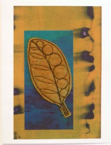 Felt Free Motion Stitched Elliptic Leaf Card