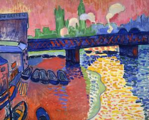Charing Cross Bridge, Andre Derain, Wikipedia