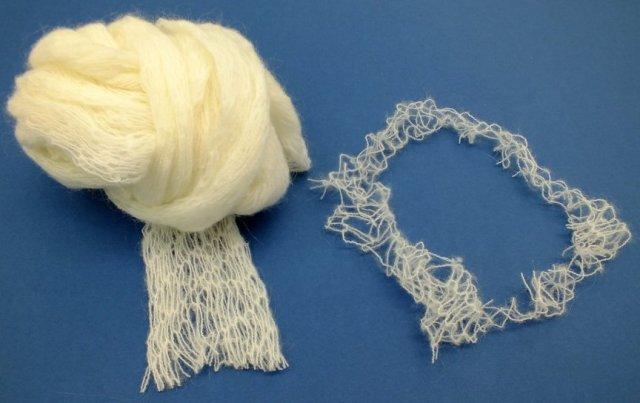 distressed fancy yarn
