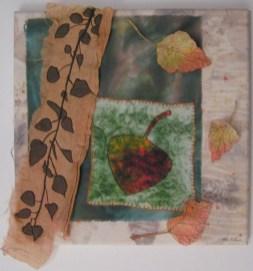 Aspen Leaf with Lutradur Leaves