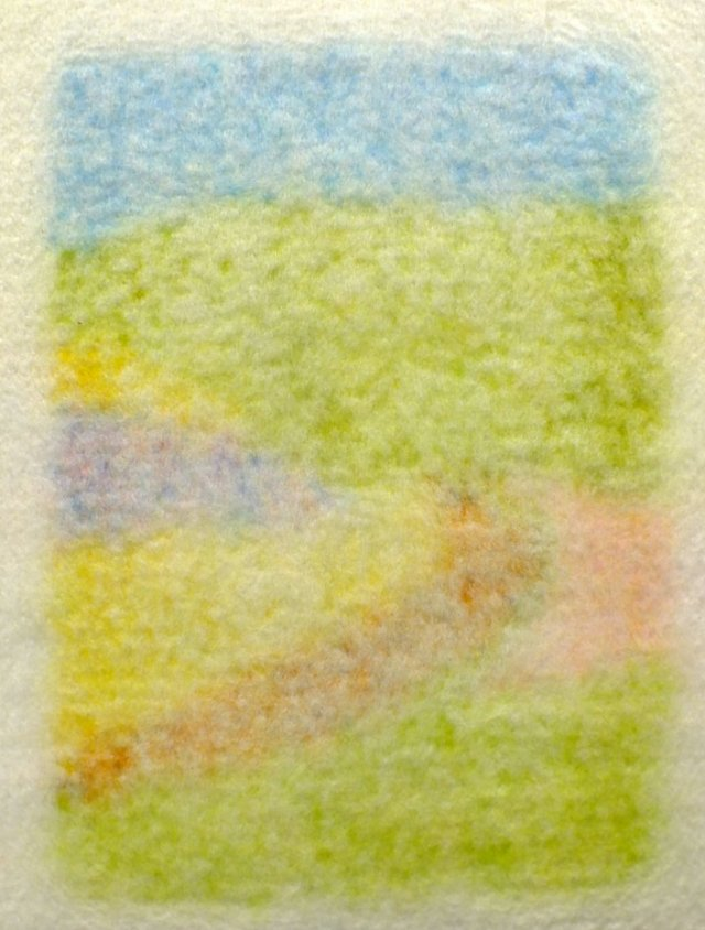 7. reverse after felting