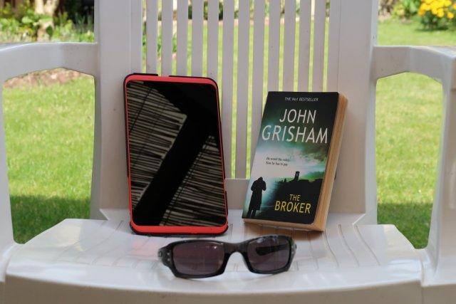 kindle, book, sunglasses