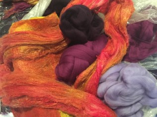13 orange and yellow silk with wool