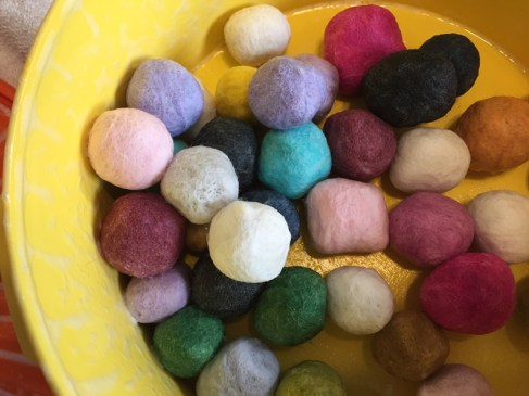 making felt balls 4