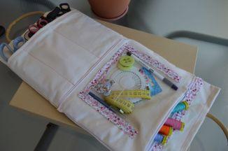 Τσαντούλα με ζωγραφισμένα καρπουζάκια, τσάντα για ραπτικά και ένα βαζάκι θάλασσα!