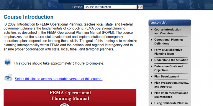 FEMA IS 2002 Answers Operational Planning