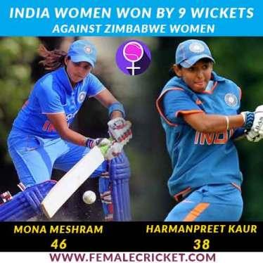 India women vs Zimbabwe Women