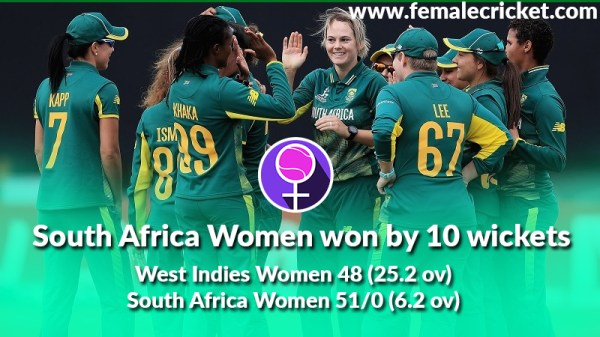 South Africa outclassed West Indies women in World Cup 2017