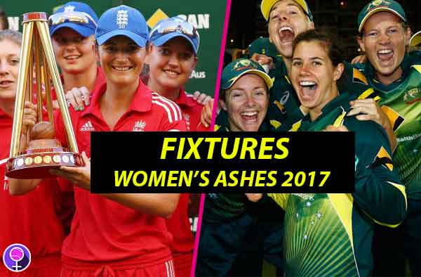 Schedule for Women's Ashes 2017