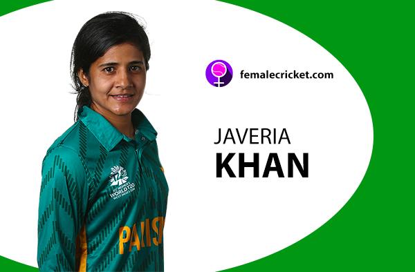 Javeria Khan. Women's T20 World Cup 2020