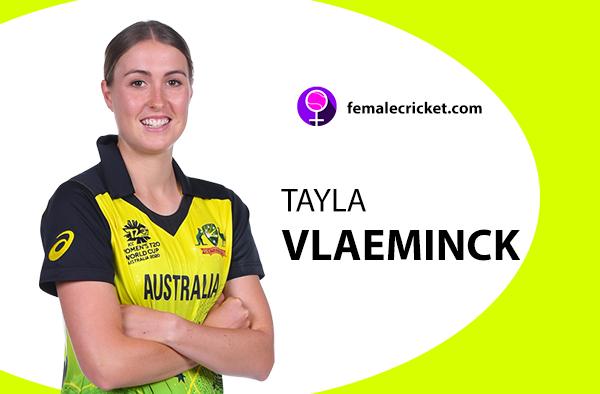 Tayla Vlaeminck. Women's T20 World Cup 2020