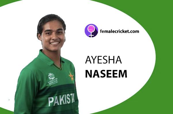 Ayesha Naseem. Women's T20 World Cup 2020