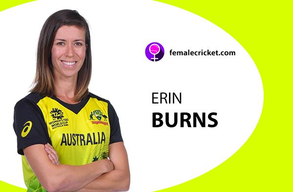 Erin Burns. Women's T20 World Cup 2020