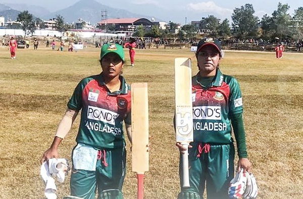 They have scored hundreds for the first time in Bangladesh Women's T20 history today against Maldives Women in the SA Games T20 Competition.👏👏👏