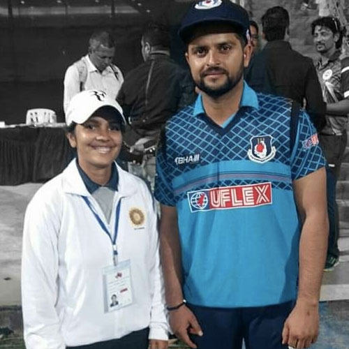 Vrinda Rathi with Suresh Raina. Pic Credits: Facebook