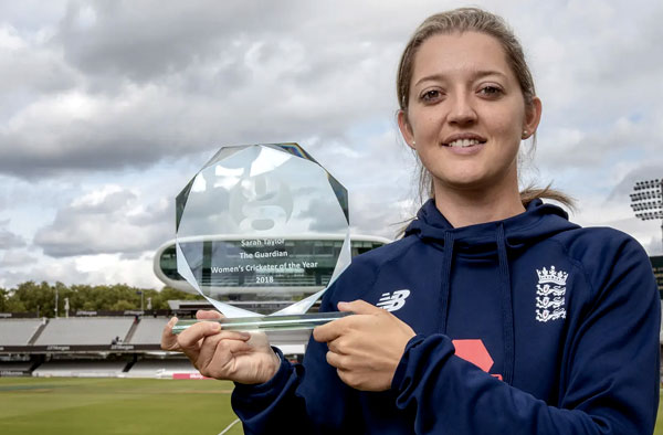 Sarah Taylor: 'Sometimes cricket is the trigger but then sometimes it's my comfort zone, too.' Photograph: Anna Gordon/Guardian