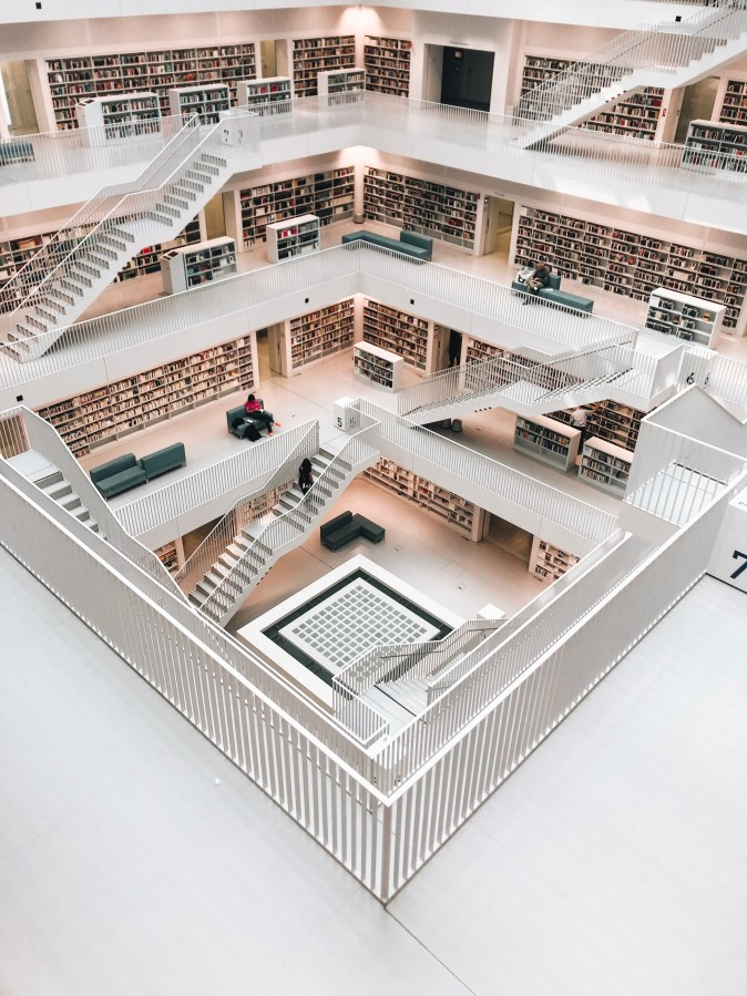 Prettiest Library in Stuttgart