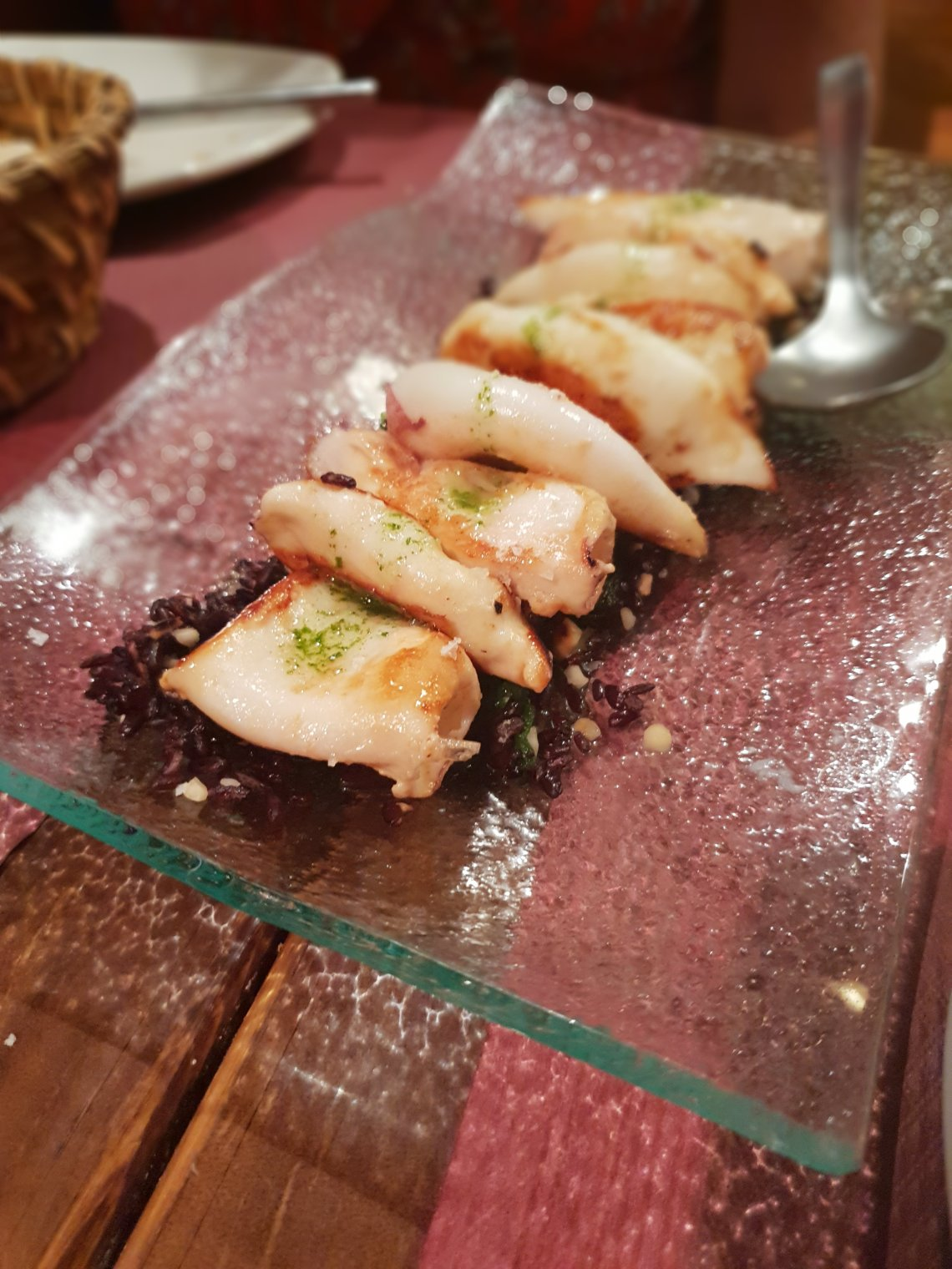 squid and black rice in spain