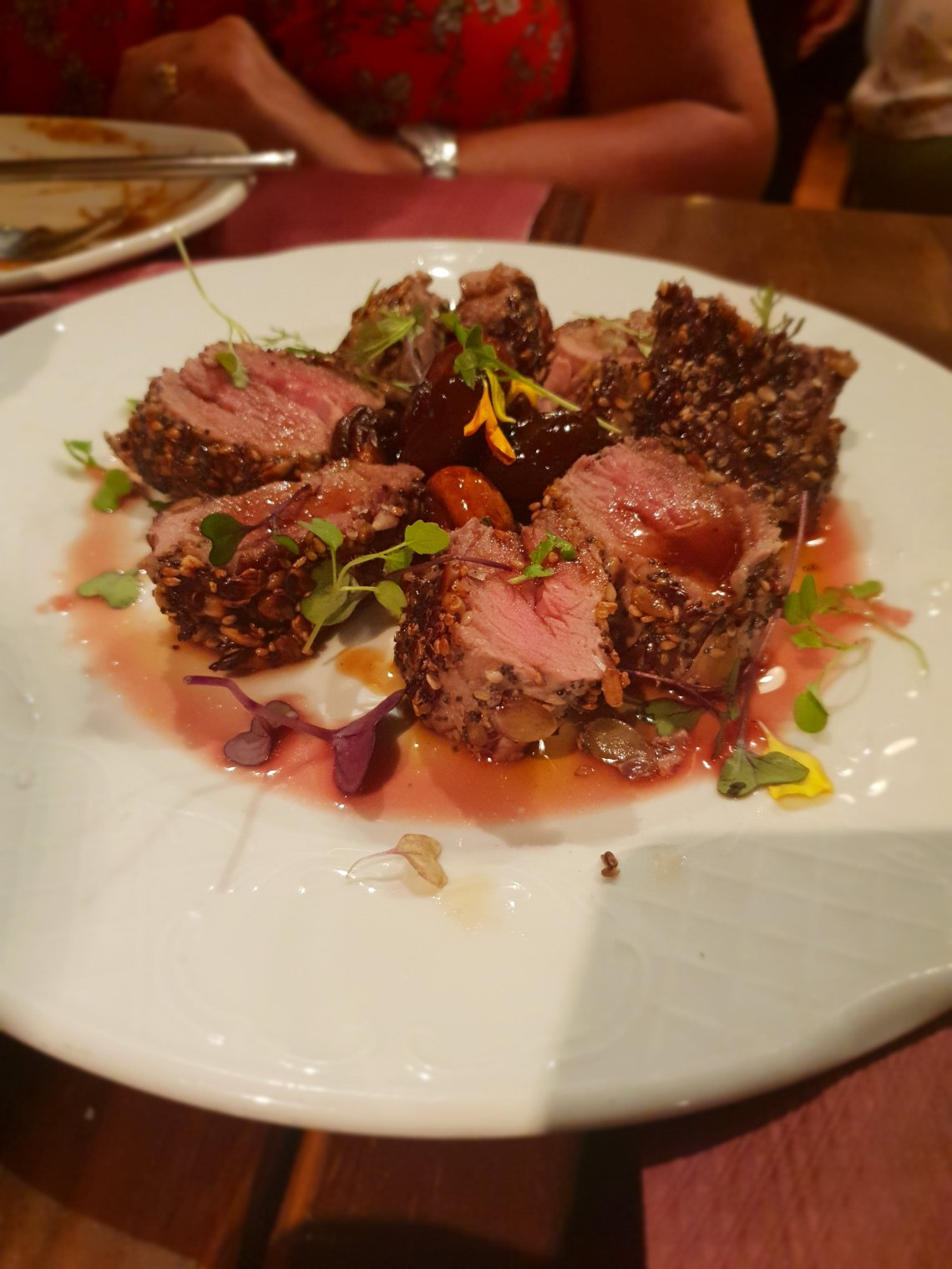 steak with sesame crumb in spain