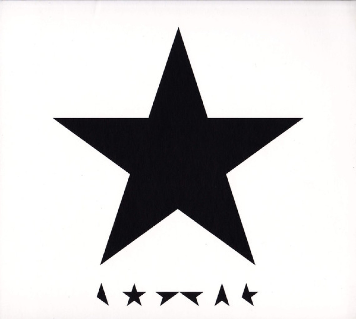 Blackstar (2016) album cover, David Bowie.