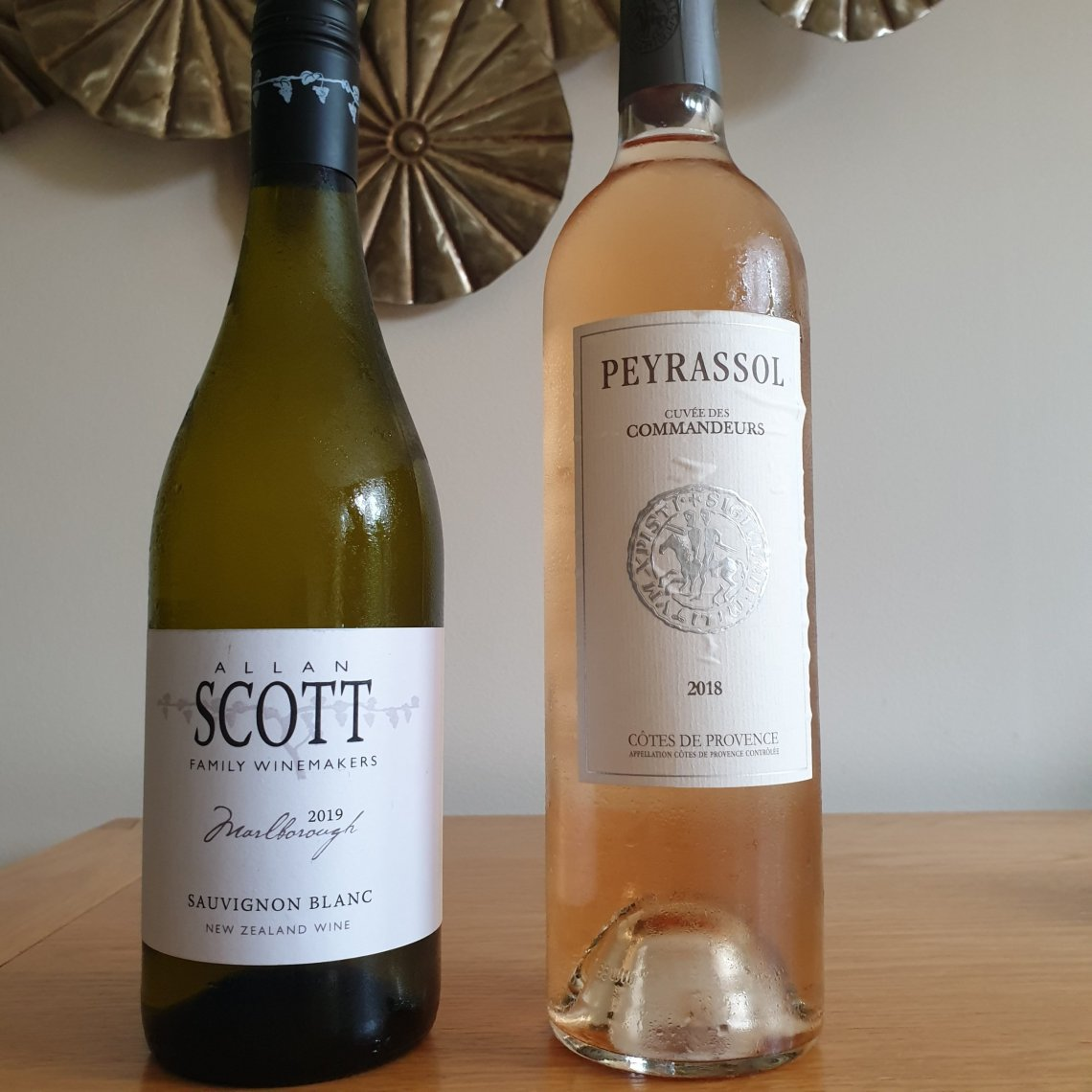 Allan Scott white wine and Peyrassol rosé wine.