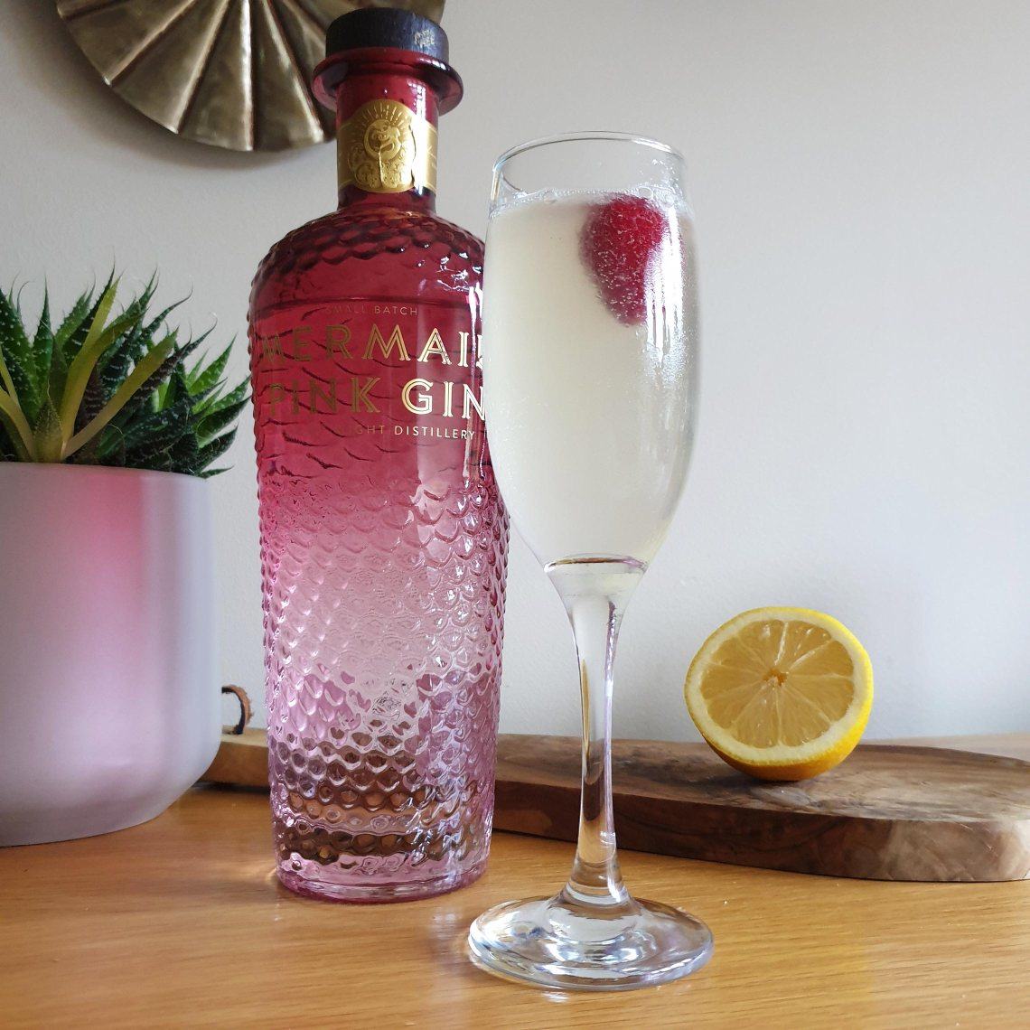 Mermaid Pink Gin Fizz - 3 Valentine's Day Cocktails You Can Make At Home - Female Original