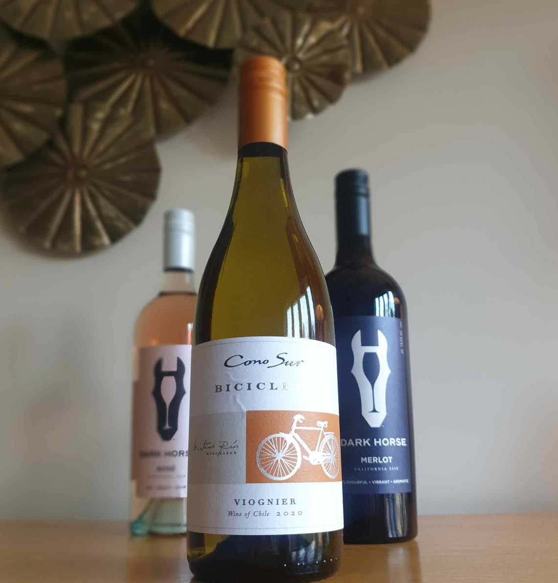 A bottle of Cono Sur Bicicleta Viogner white wine. The Best Foodie Mother's Day Gifts.