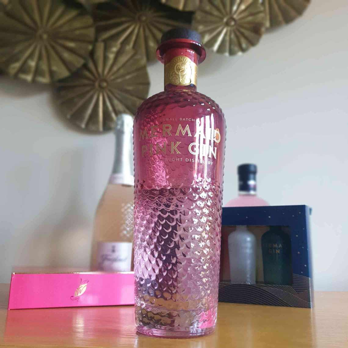A bottle of Mermaid Pink Gin. The Best Foodie Mother's Day Gifts.
